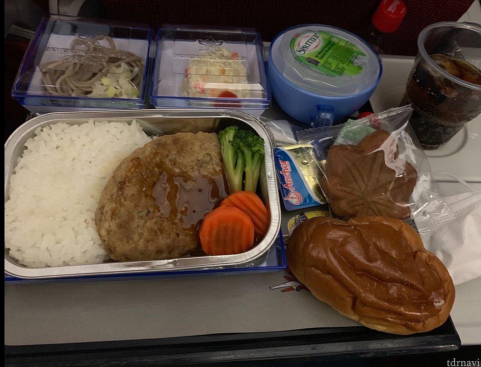 往路の機内食