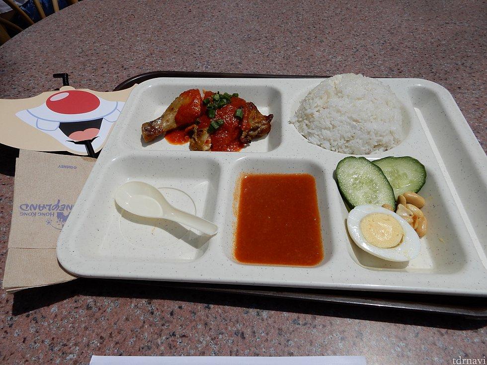 マレーシアチキンレッグとココナッツライスです。