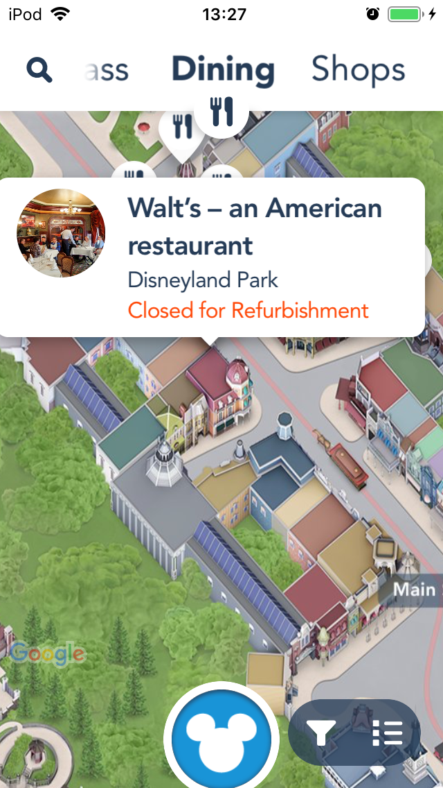 アプリで確認すると開店時間がわかります (写真は時間外のスクショです)