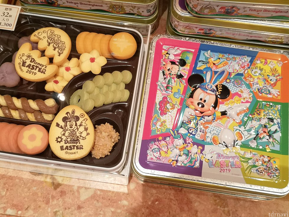 クッキーセット、1,300円。缶もさることながら、中のクッキーもお花やたまごモチーフでかわいいです♪