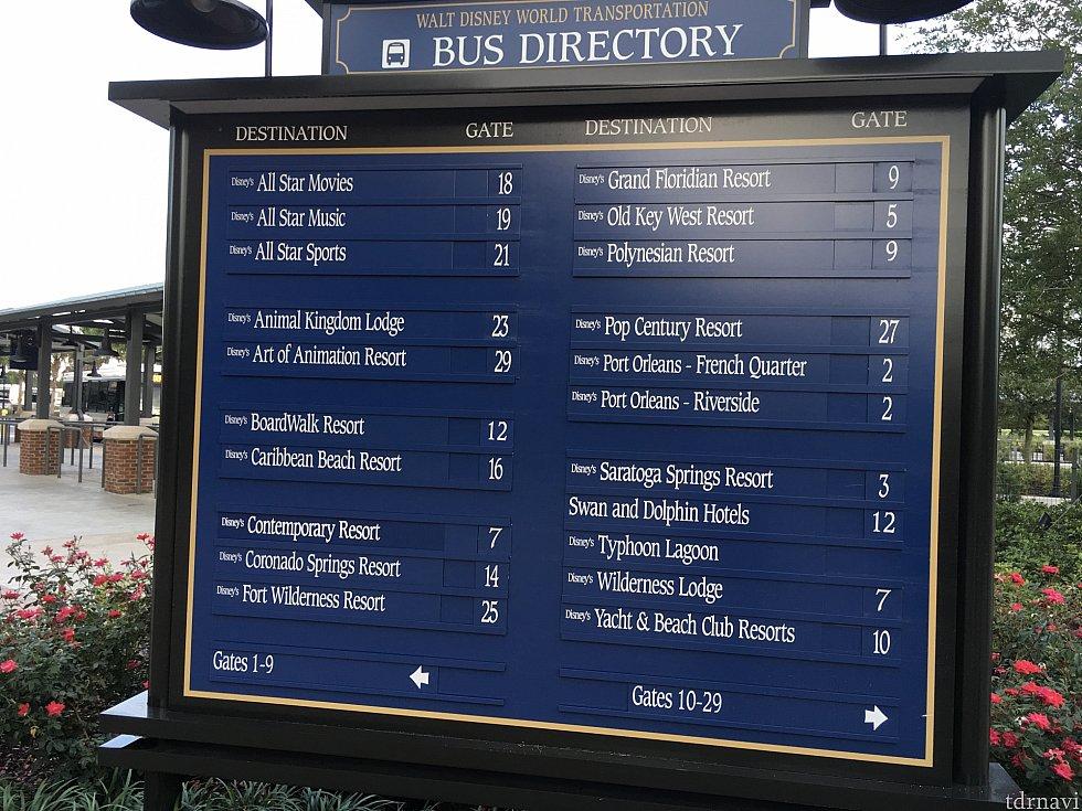 ディズニースプリングスで買い物をして戻ろうとすると…パークへのバスないのか!
