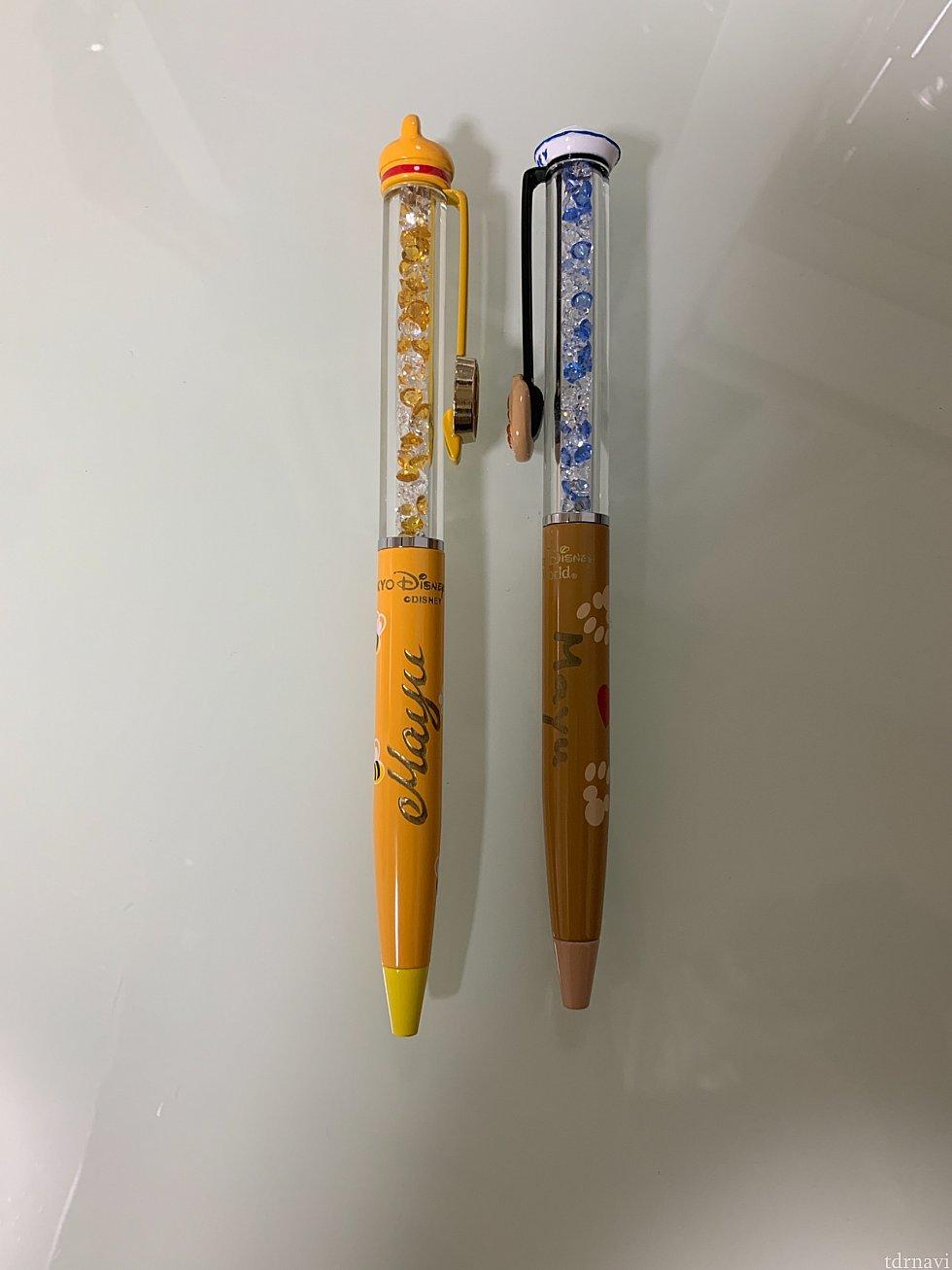 日本で購入したプーさんのボールペンと比較。