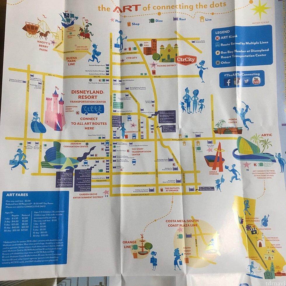 パンフレットのルートマップ(拡大)