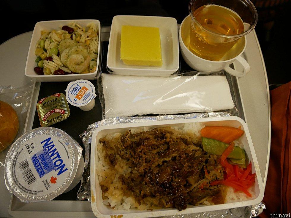 復路:機内食2回目