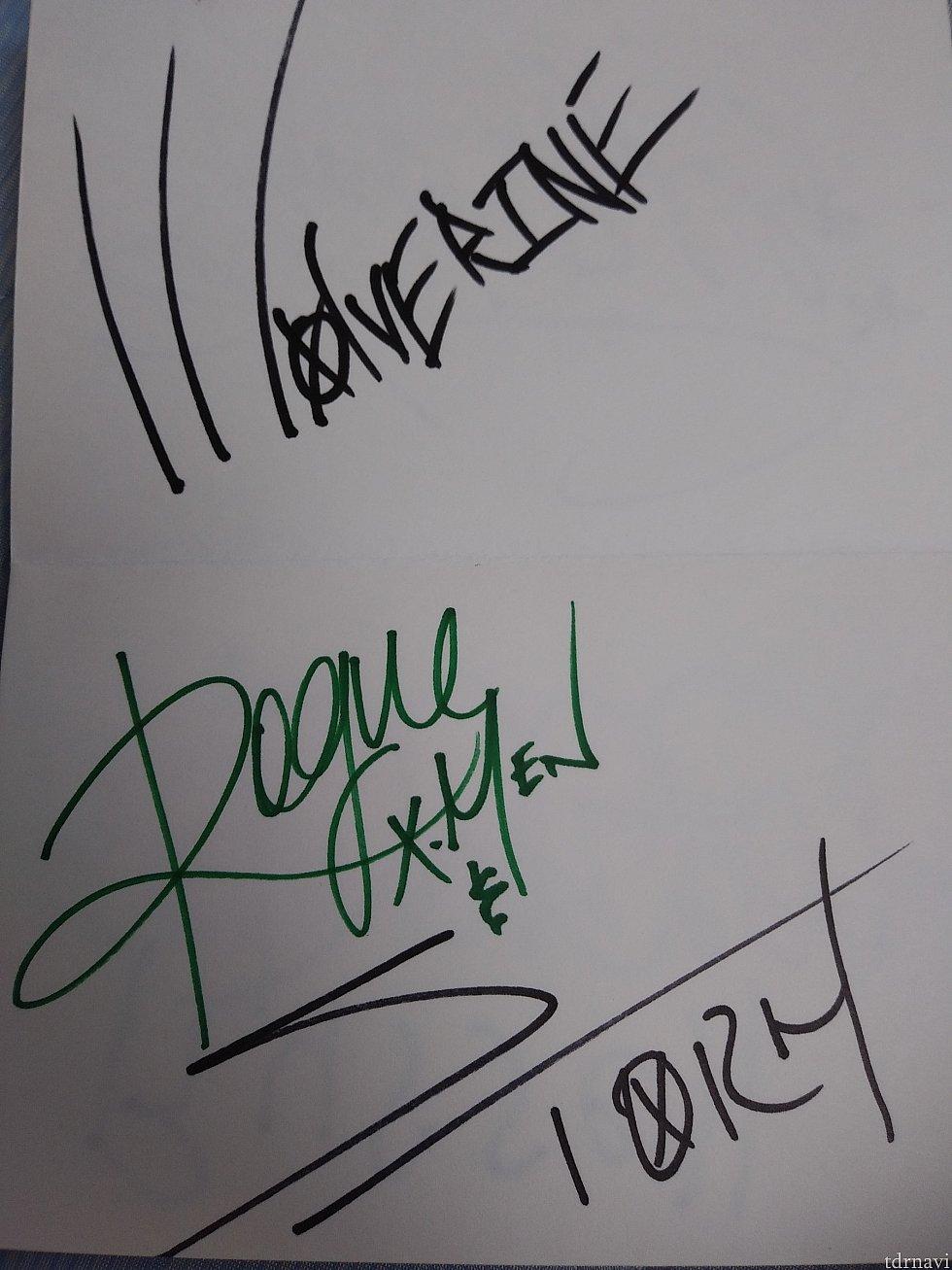 ウルヴァリン、ローグ、ストームのサインです。