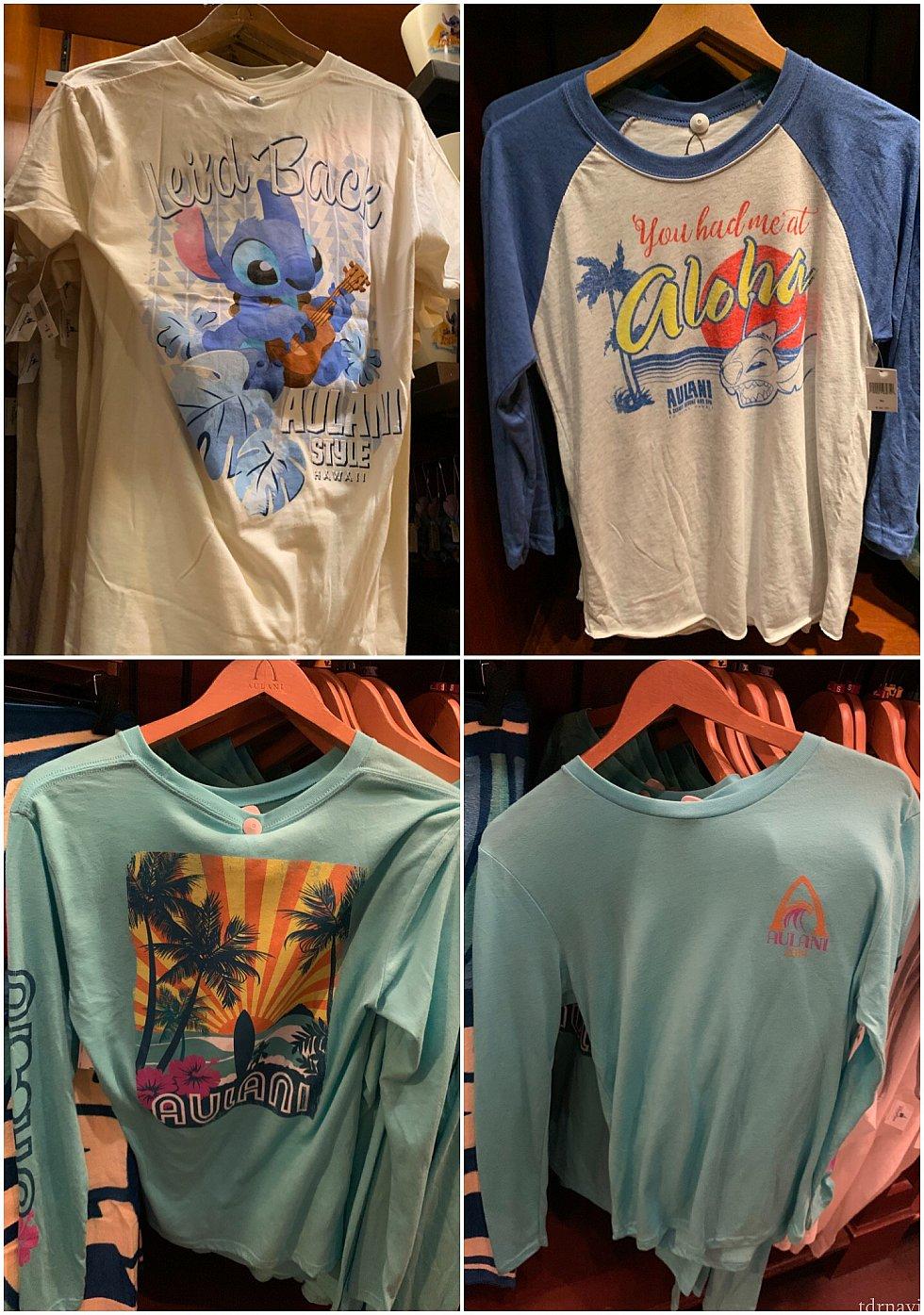 スティッチのTシャツもあります! 下の段は40ドル
