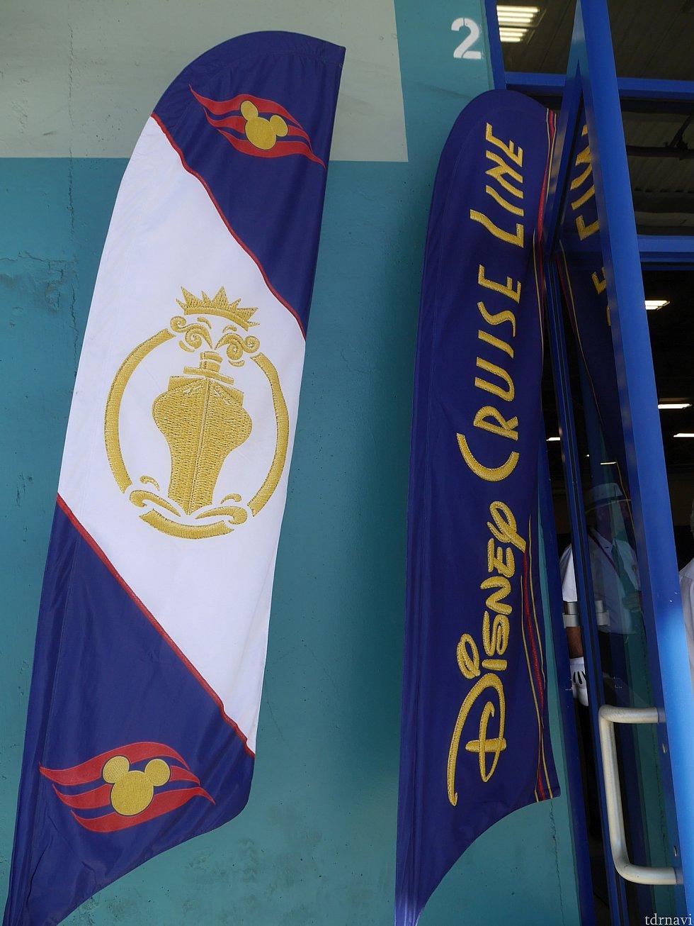 サンディエゴ港にディズニークルーズの旗が立ってました!!