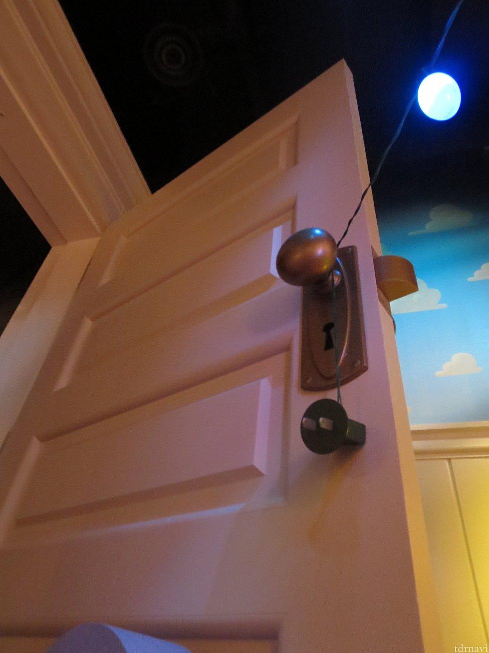 アンディの部屋のドア
