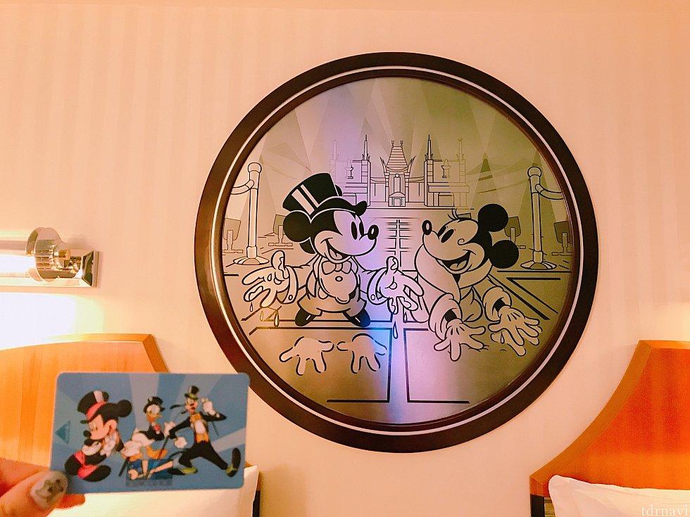 ホテルのお部屋にある壁とカードキー