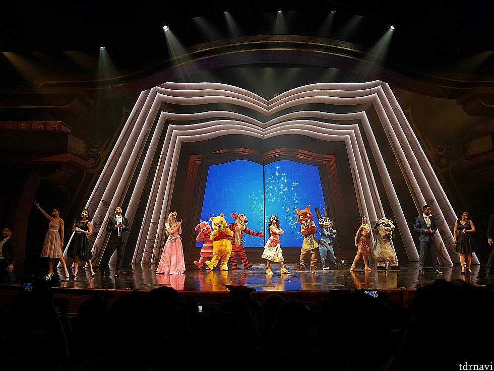 【年パスイベント・夏】 夏のイベント内で、冬の年パスイベントで披露されたショーの再演もありました。
