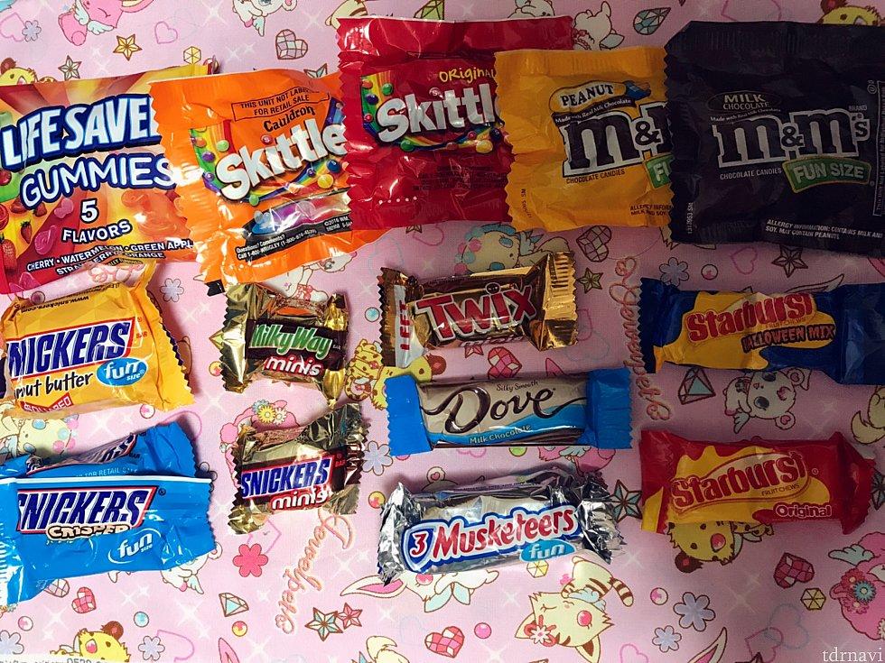トリックオアトリートのお菓子の種類はこんな感じ