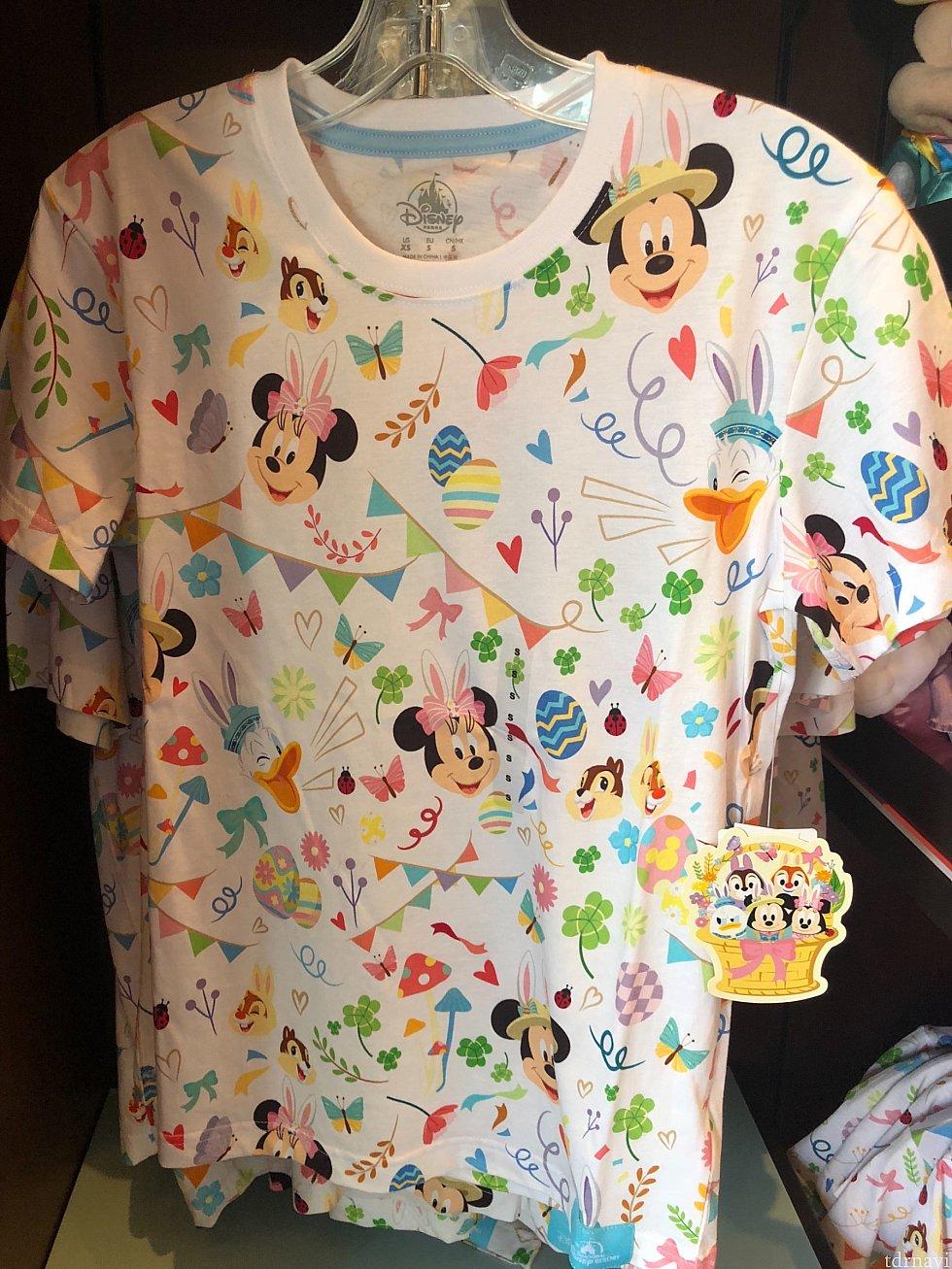 総柄の可愛いTシャツ♡ 大人用 169元、子供用139元