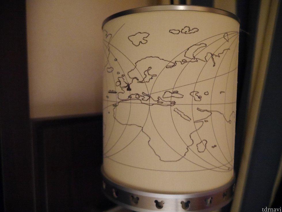 世界地図になっています☆