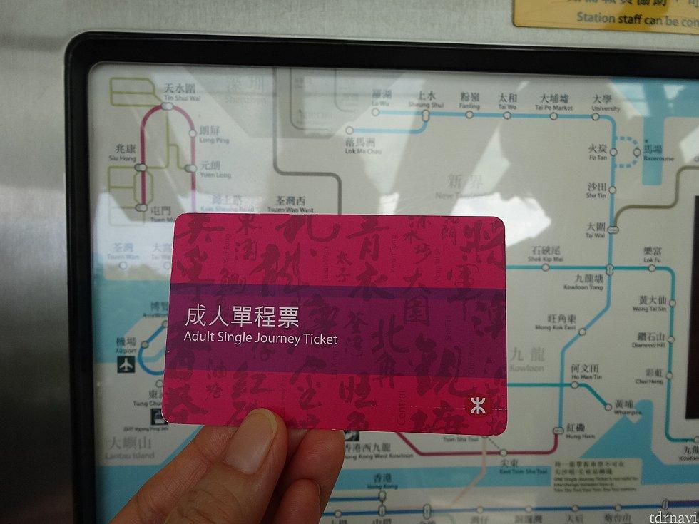 これが切符です。<br> いつも同じではないようです。