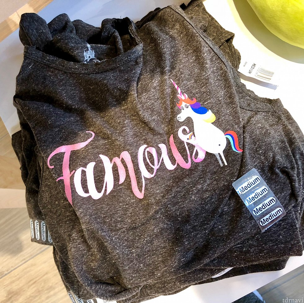 「インサイドヘッド」のユニコーングッズ!女性用のタンクトップTシャツで、$29.99。表情が彼女らしくて何とも言えません!写真がきちんとしてなくてごめんなさい。
