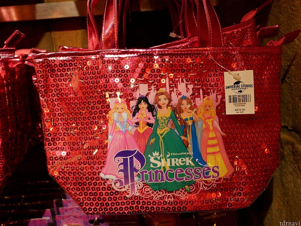 【余談】ジンジャーブレッドマンではないですが、シュレックプリンセスのバック...シュレックに出てくるプリンセスってこんな美形でしたっけ?そしてプリンセス沢山いたんですね😅 19.9ドル