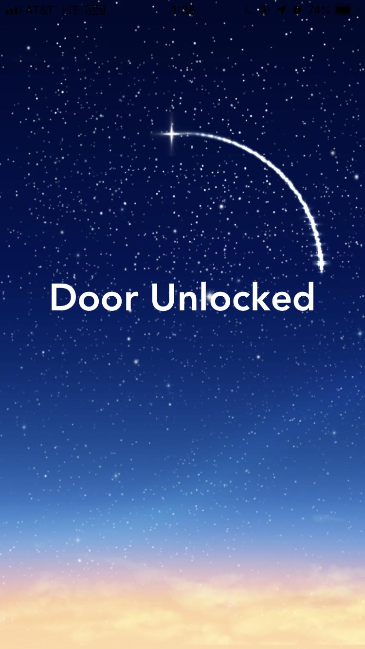 ドアが開きました