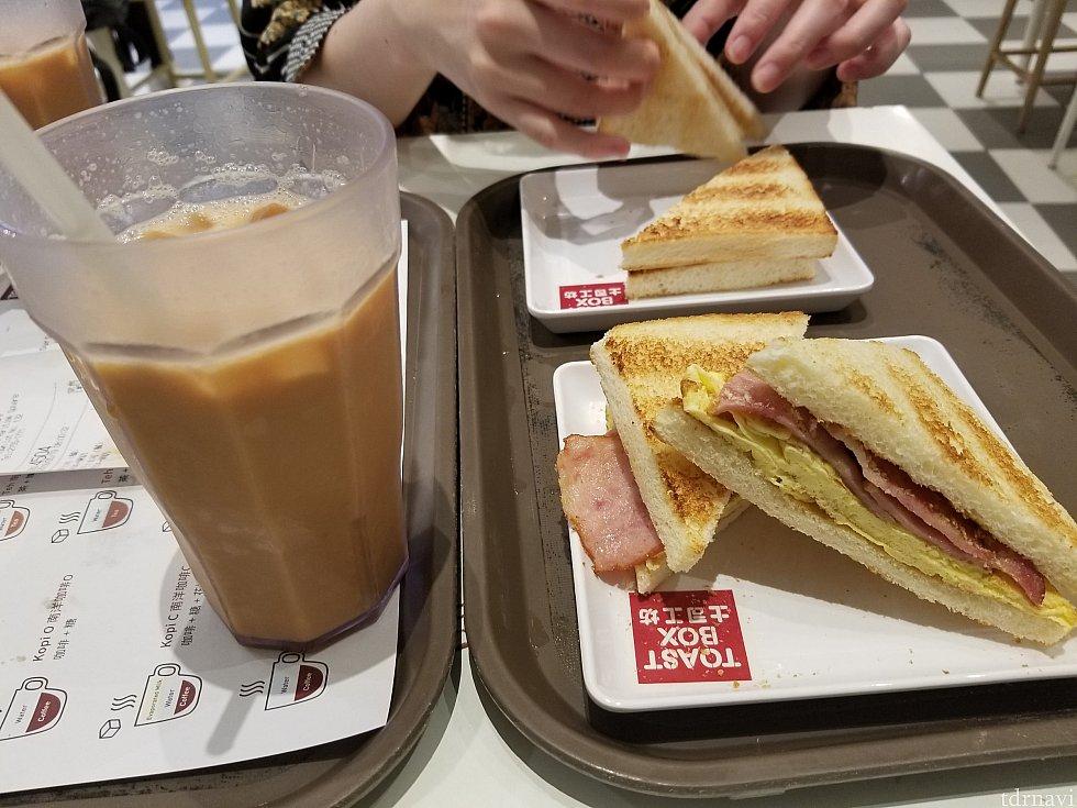 翌日の朝は青衣で朝ご飯(ミルクティが美味しかったです)を食べてスーパー(教えて頂いてありがとうございました☺️)へ移動