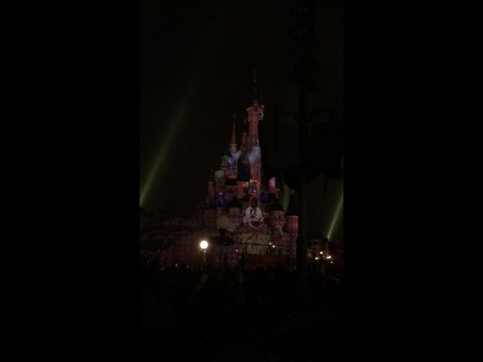 最後に「World Biggest Mouse Party」と出て終了。この5分後に「ディズニー・イルミネーションズ」がスタートします