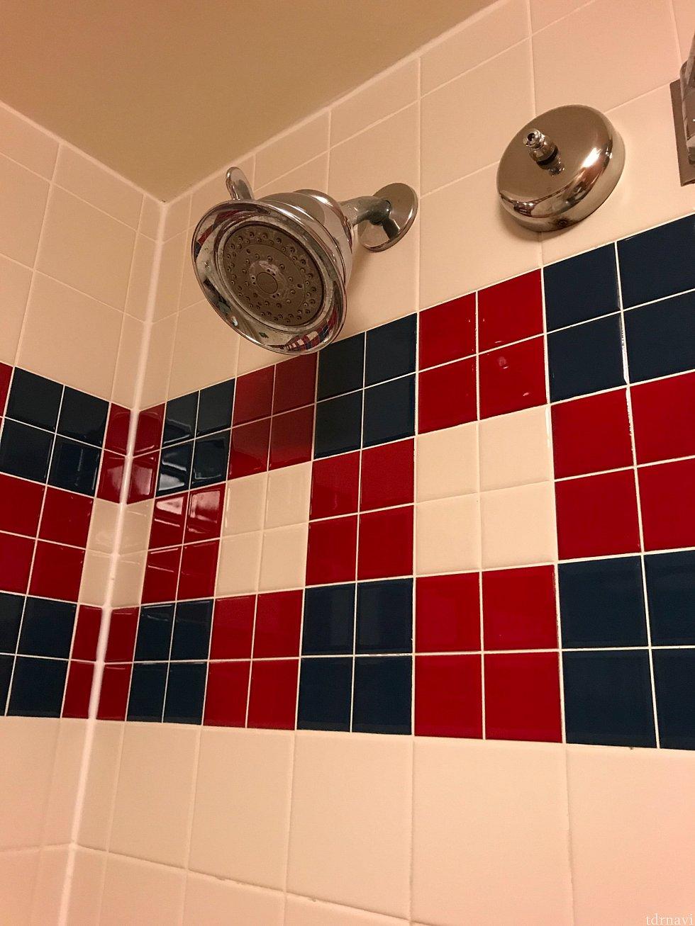 シャワーは固定です 上の出っ張っている所を左右に動かして水流を調整できます