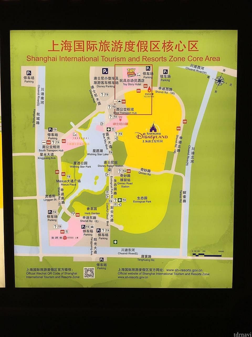 リゾート全体の地図。