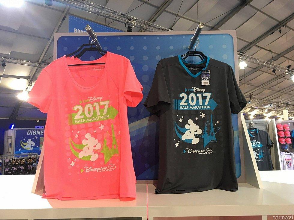 25周年を迎えた2017のディズニーランドパリ!な感じが一番出ていたのはこちらのTシャツでした。が、レディースの色がド派手すぎて購入には至らず(・_・`)