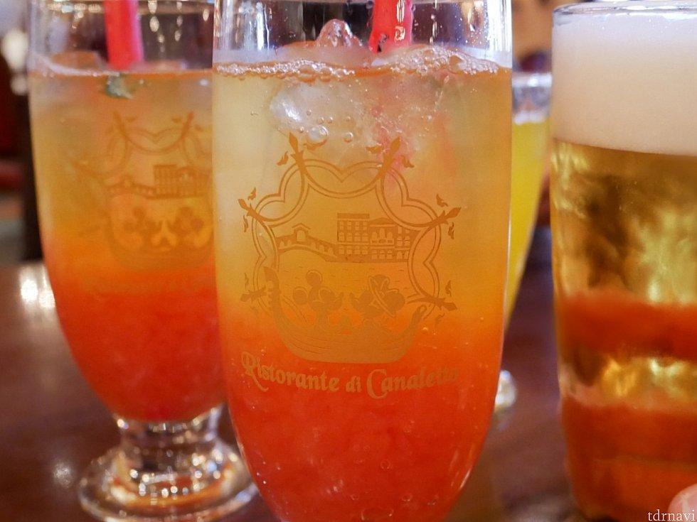 コレクタブルグラス☆ このデザインすごく好きです! ドリンクもゼリーたっぷりで美味しかったです!