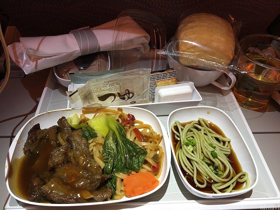 1番最後に食べた機内食。美味しかったです。