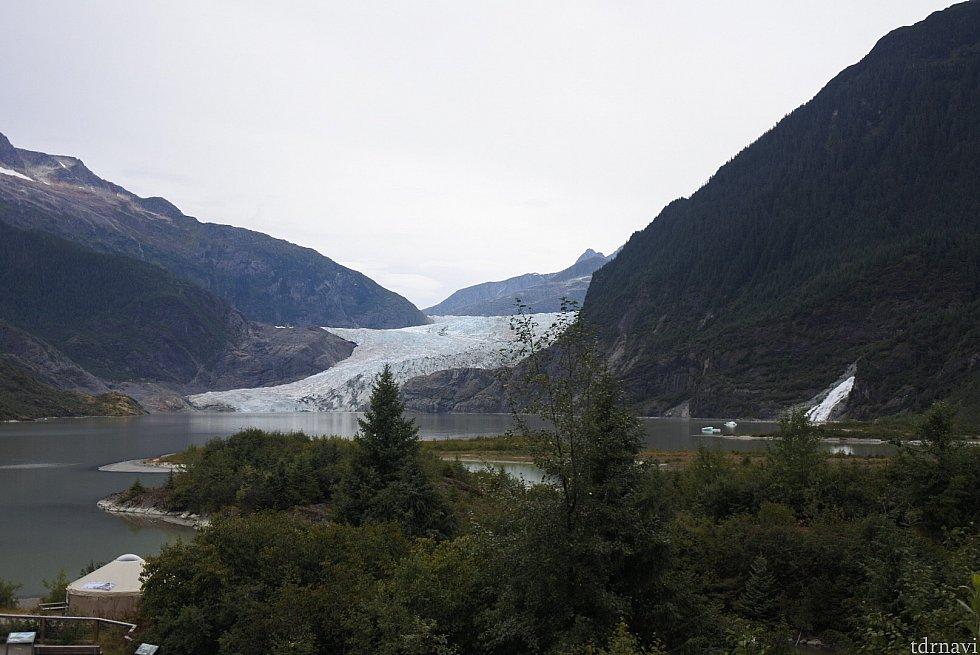 メンデンホール氷河鑑賞ポイントから