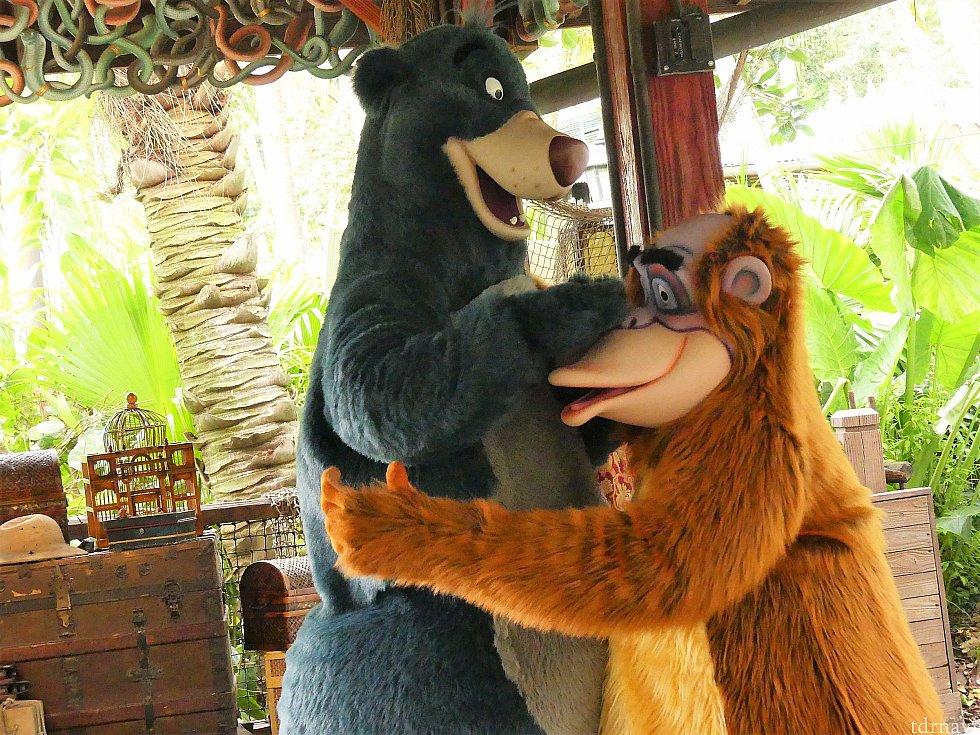 バルーとキングルーイはなぜか怖がっていました(''_'') キャラクターたちが、いつもしないような反応をしてくれるところも魅力的です!