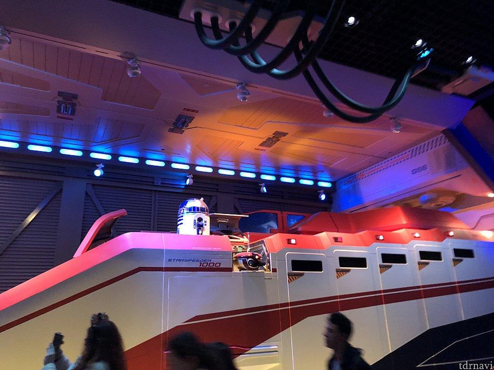 Qラインにあるライドの模型。 東京にあるものと同じですね!