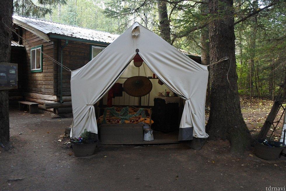 こんな感じのテントがいくつかありそこにクイズのヒントがあります