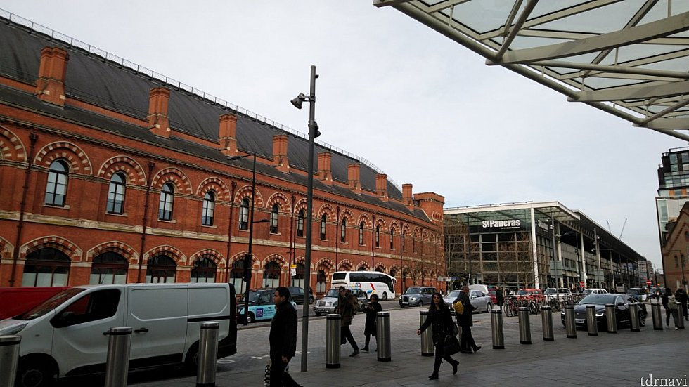 駅の外観です。