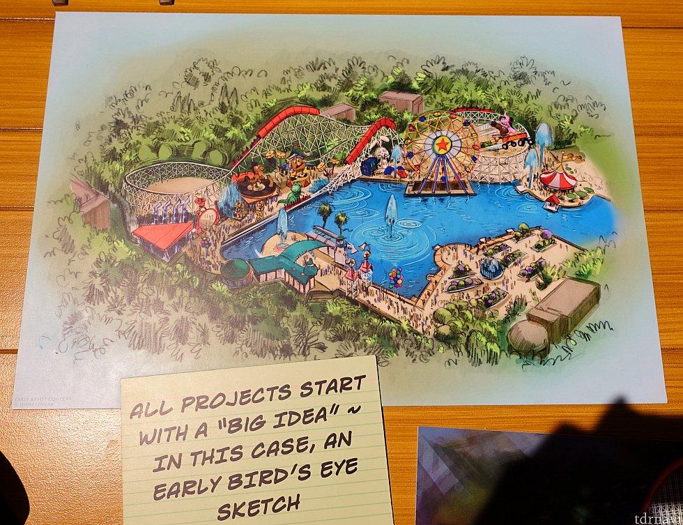 プロジェクト初期の鳥瞰図。詳しく見てみると…