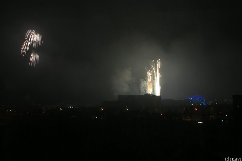 部屋から観れた花火