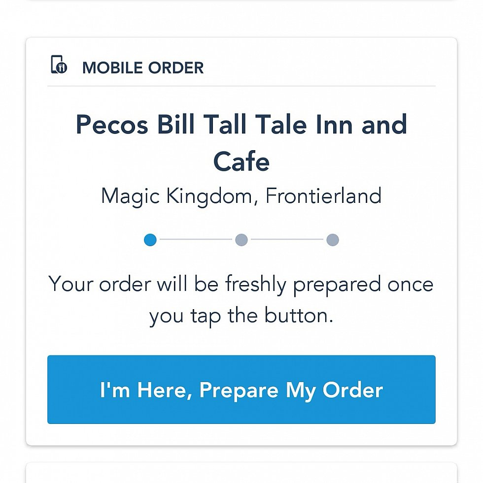 注文後、アプリのトップ画面にこの表示が出るのでレストランに付いたらボタンを押しましょう。押さない限り、メニューの準備は開始されません。