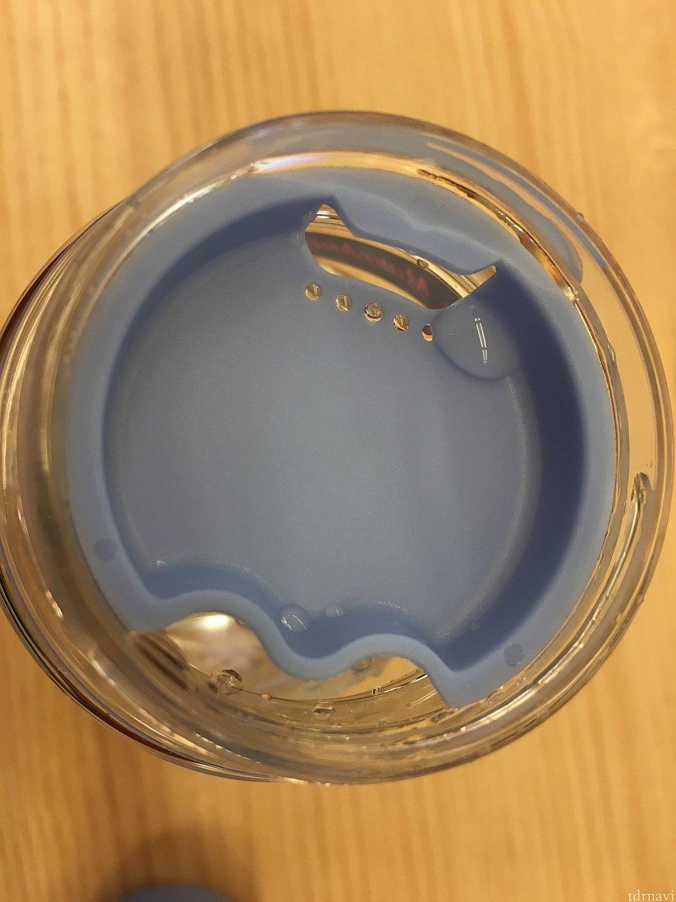 ボトル飲み口。 これを外すと開口部が広く開くので洗いやすい