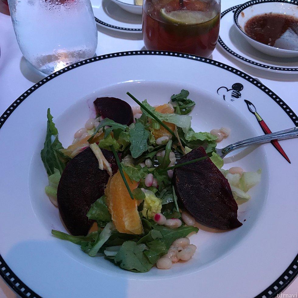 サラダ。黒く見えるのは赤カブです。アニメーターズパレットの照明は難しいです…