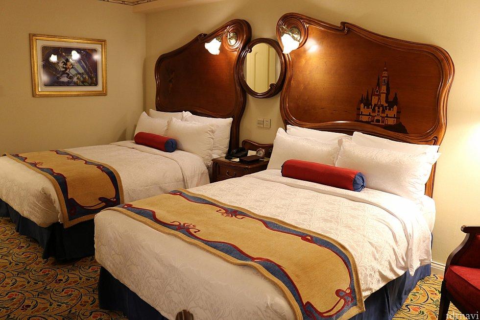 2ベッドルームです。アナハイムのようにベッドフレームが光ます!