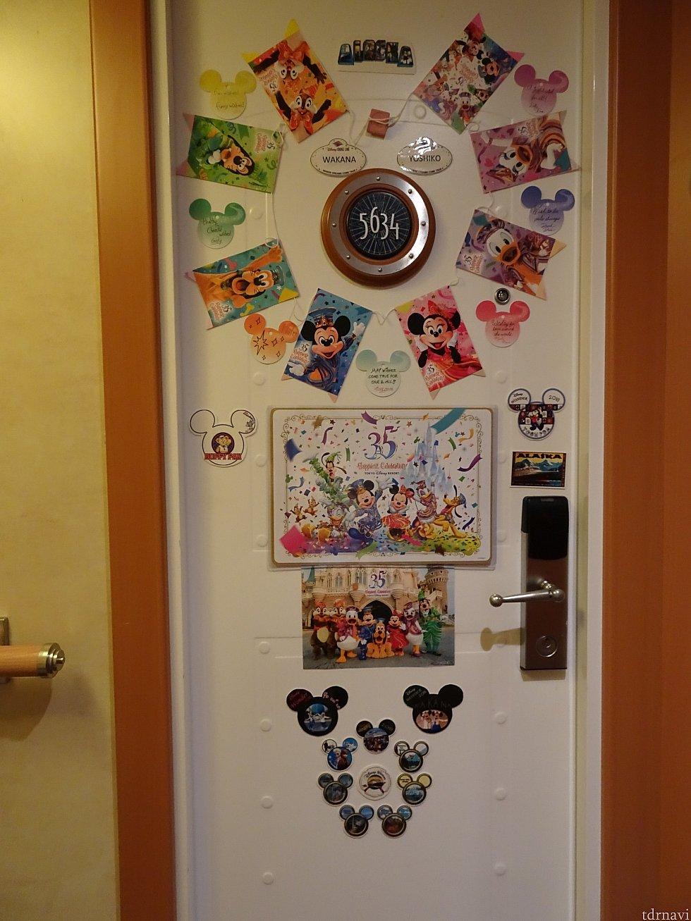 今回のドア飾りです。だいたい売り物の張り付けです。 マグネットを仕込んでドアに張り付けてます。