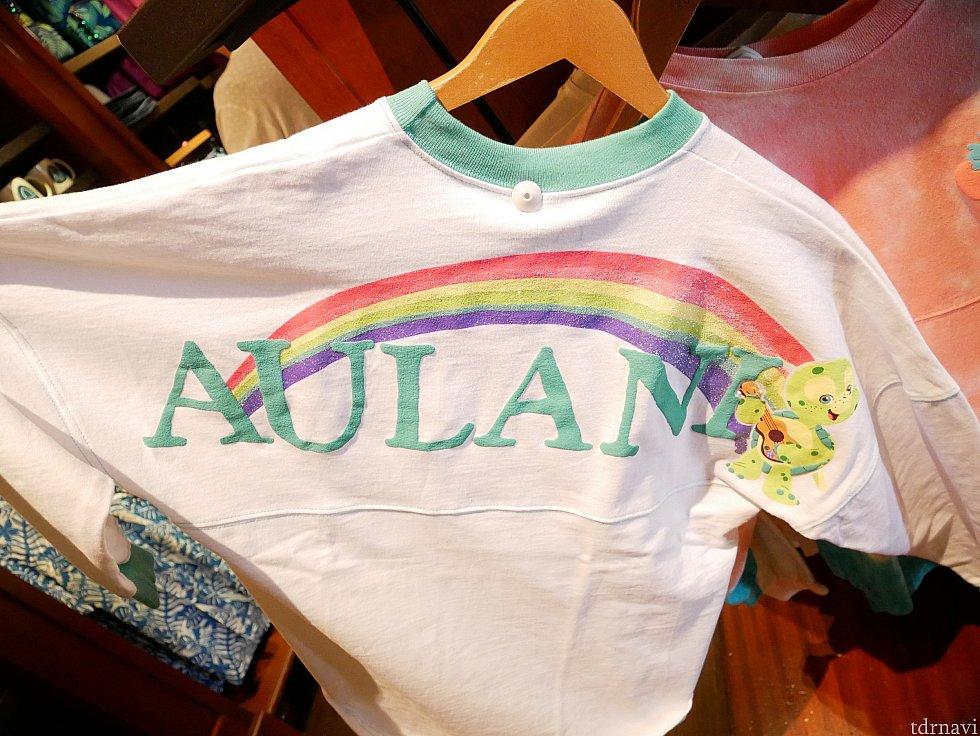 オルくんデザイン!虹があるのもハワイらしい!全面はウクレレが胸に描かれています。