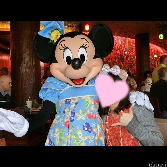 この衣装のミニーちゃんとってもかわいい!友人もデレデレ笑