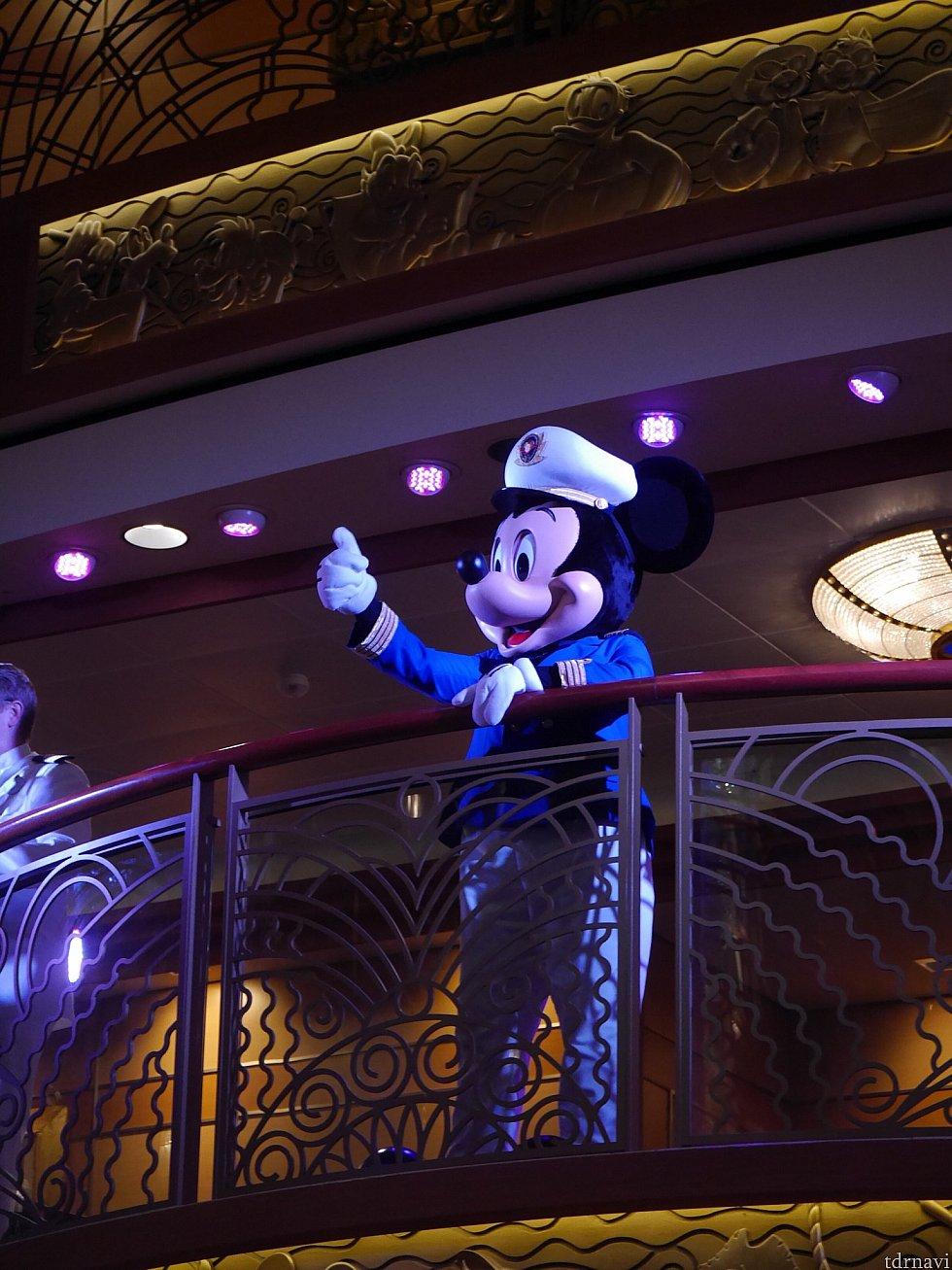 船長のミッキー!楽しい船旅をありがとう!という気持ちになりました。
