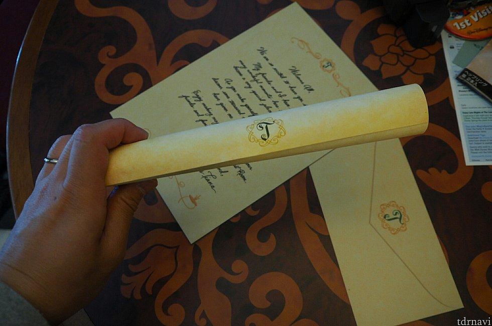 ティアナからのお手紙♥️ なんて書いてあるかは…秘密♪