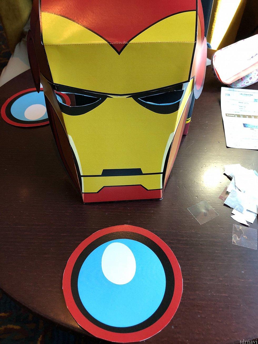 アイアンマンのマスク なんかシュール! ゴムももらえます!