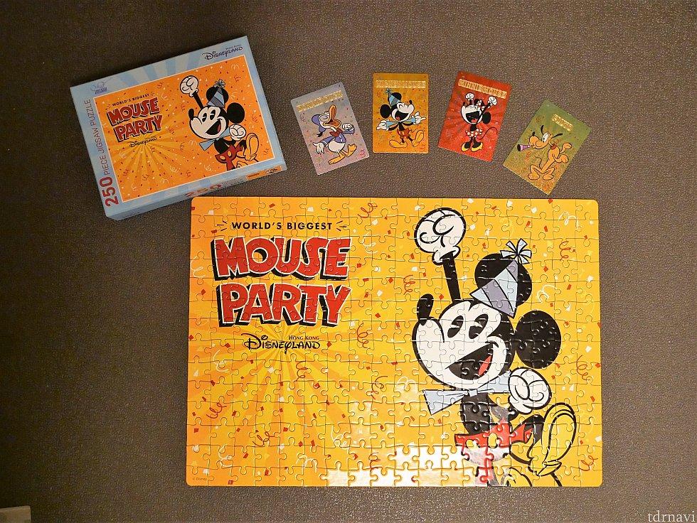 【プレゼント】11~12月 パークでお土産や食事をしたレシートを持っていくと、ミッキーのバースデー記念のジグゾ―パズルが貰えるキャンペーンもありました。こんなしっかりしたモノが貰えるとはビックリ!