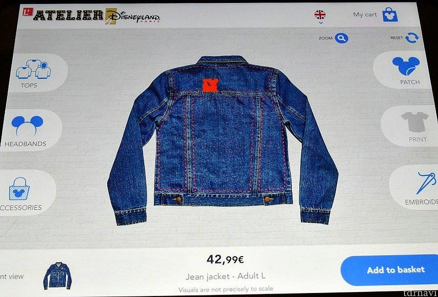デニムジャケットにはワッペンと刺繍が出来ます 表も裏もカスタマイズ出来ます