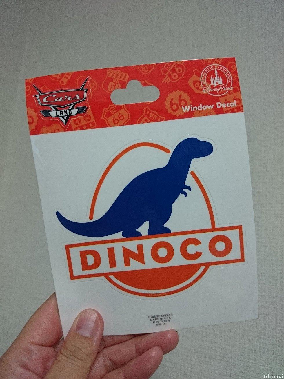 DINOCOのステッカー! 9.99ドル。