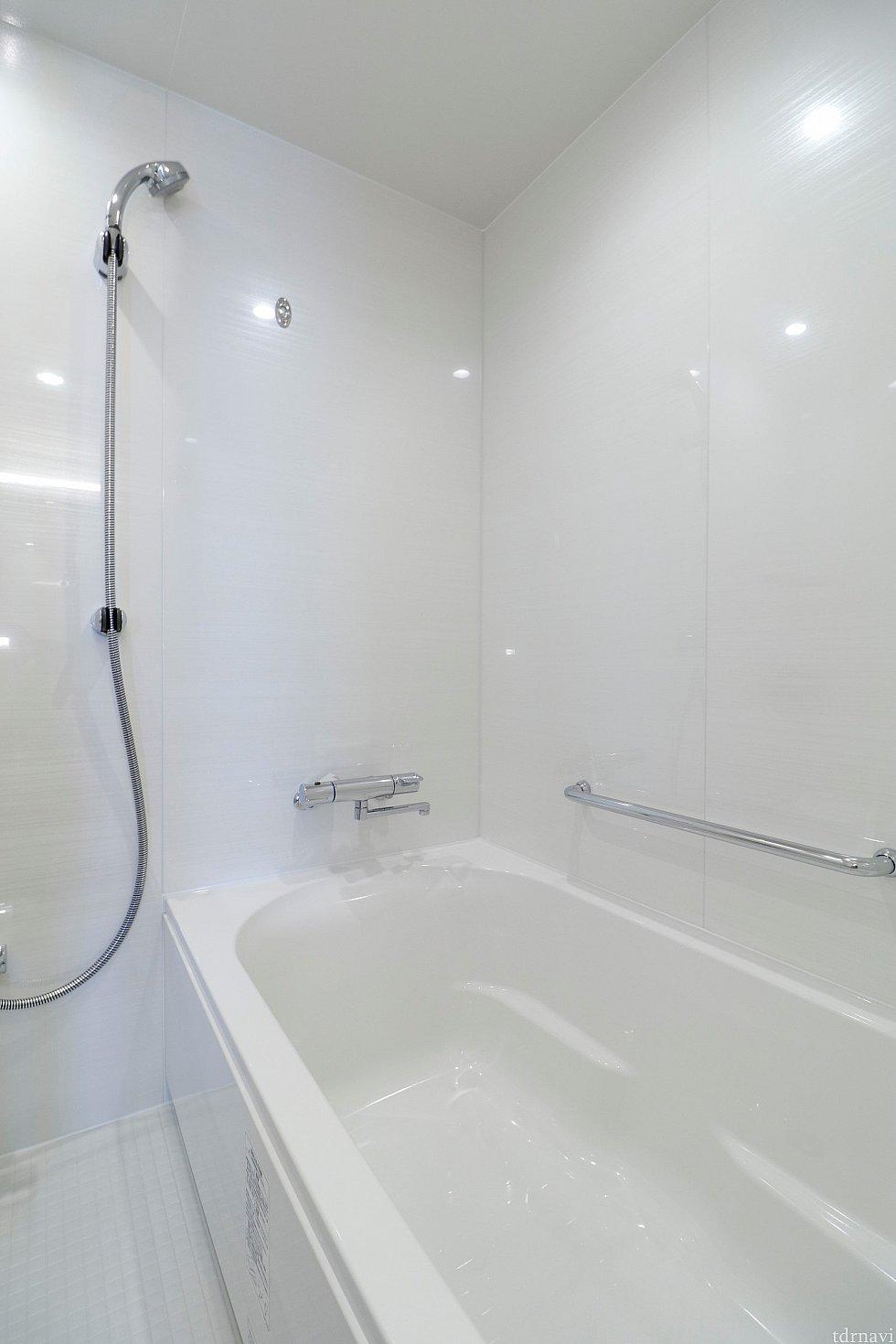 シャワーの勢いは申し分ありません お湯張りは時間がかかります