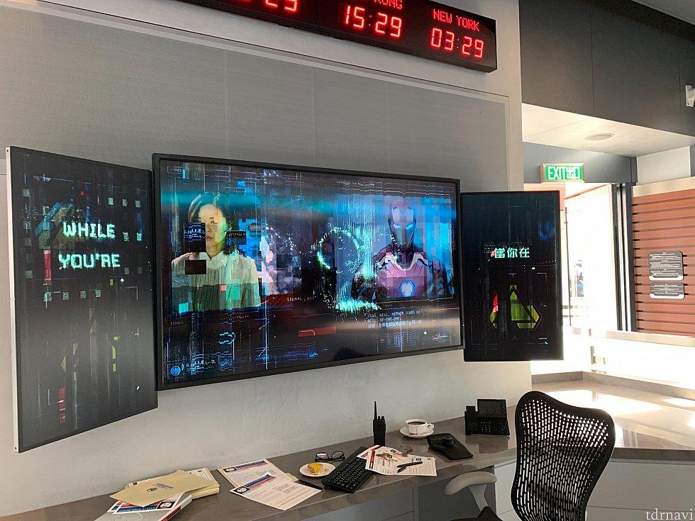 スタンバイのQラインではコンピュータルームが見られます